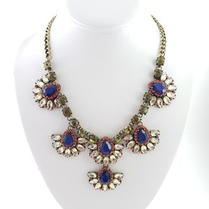 BaubleBar Statement Necklace Blue Green -LL